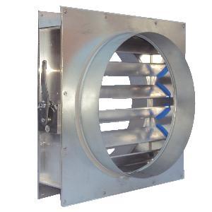 600mm Dia Type C (Spigot) - Quadrant Control - Aluminium VCD